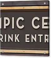 Olympic Center 1932 Rink Entrance Acrylic Print