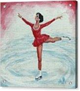 Olympic Figure Skater Acrylic Print