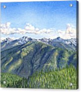 Olympic Mountains Acrylic Print