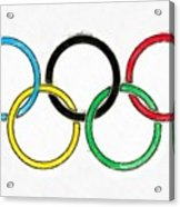 Olympic Rings Pencil Acrylic Print