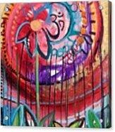 Om Flower Acrylic Print
