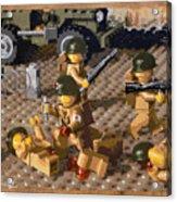 Omaha Beach June 6 1944 Acrylic Print by Josh Bernstein