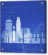 Omaha Blueprint Skyline Acrylic Print