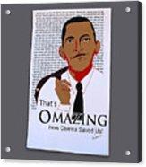 Omazing Obama 1.0 Acrylic Print