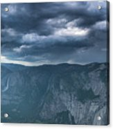 Ominous Clouds Over Glacier Point Acrylic Print