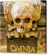 Omnia Mors Aequat Acrylic Print