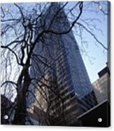 On A Clear Day...moma Courtyard Ny City Acrylic Print