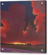 On A Dark Desert Highway Acrylic Print
