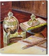 On A Desk At Eugene O Neill Tao House Acrylic Print