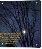 On A Fall Night Acrylic Print