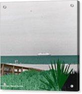 On A Florida Beach Acrylic Print