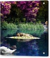 On A Lake Acrylic Print by Svetlana Sewell