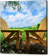 On A Pretty Summer Day Oil Painting Acrylic Print
