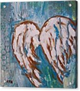 On Angel Wings Acrylic Print