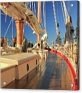 On Deck Of The Schooner Eastwind Acrylic Print