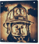On Duty And Into Fire_dramatic Acrylic Print