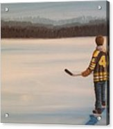 On Frozen Pond - Bobby Acrylic Print