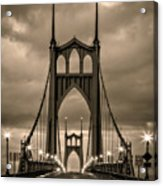 On St Johns Bridge Acrylic Print