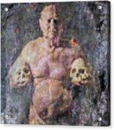 On The Altar Of Skull Carson #3. A Self-portrait, 2016 Acrylic Print