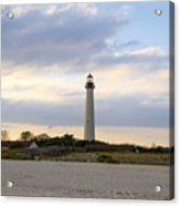On The Beach At Cape May Lighthouse Acrylic Print