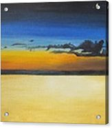 On The Beach At Night Acrylic Print