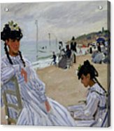 On The Beach At Trouville Acrylic Print