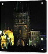 On The Charles Bridge Acrylic Print