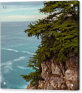 On The Cliff - Vertical Acrylic Print