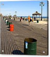 On The Coney Island Boardwalk Acrylic Print