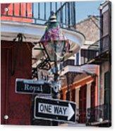 On The Corner Of Royal Street Acrylic Print