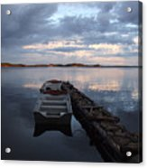 On The Gouin Reservoir In Quebec Acrylic Print