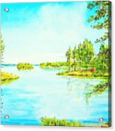 On The Lake In A Sunny Day 2 Acrylic Print