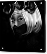 On The Lips Of Poise Acrylic Print