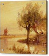 On The Norfolk Broads Acrylic Print