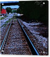 On The Railroad Tracks Acrylic Print