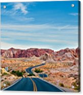 On The Road - Valley Of Fire Acrylic Print