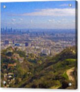 On The Road To Oz La Skyline Runyon Canyon Hiking Trail Acrylic Print