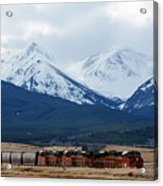 On The Rocky Mountain Front Acrylic Print