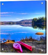 On The Shore Of Seventh Lake Acrylic Print
