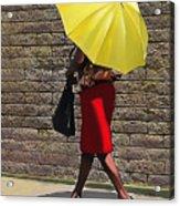 On The Sidewalk Acrylic Print