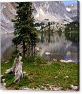 On The Snowy Mountain Loop Acrylic Print by Marty Koch