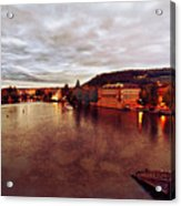 On The Vltava River Acrylic Print