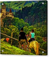 On The Way To Bran Castle Acrylic Print
