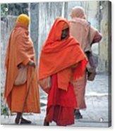 On The Way To Morning Prayers - India Acrylic Print