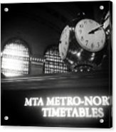 On Time At Grand Central Station Acrylic Print