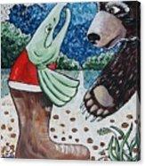 Once Bear And Salmon_part 1 Acrylic Print