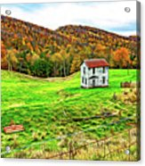Once Upon A Mountainside 2 - Paint Acrylic Print