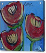 Once Upon A Yoga Mat Poppies 2 Acrylic Print