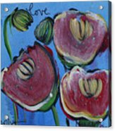 Once Upon A Yoga Mat Poppies 3 Acrylic Print