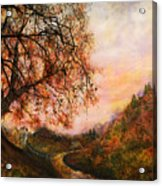 Once Upon October Acrylic Print by Patricia Motley